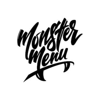 Logotipo para o design de cafés, bares, restaurantes para o período do feriado de outono halloween em um fundo branco. ilustração vetorial.