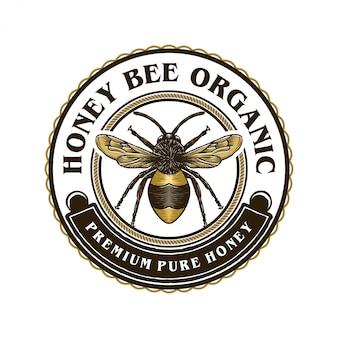 Logotipo para produtos de mel ou fazendas de abelhas