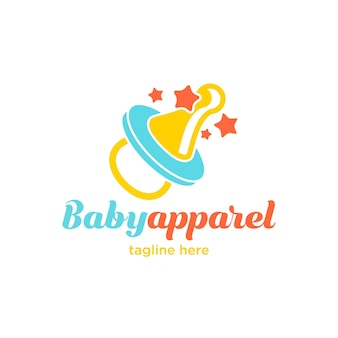 Logotipo pequeno bonito do fato do bebê