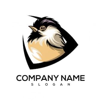 Logotipo pequeno pássaro