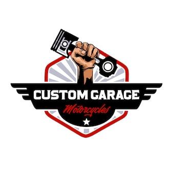 Logotipo personalizado de motocicletas de garagem