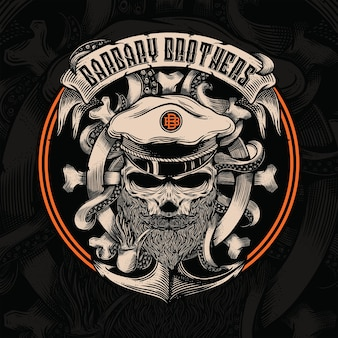 Logotipo pirates barbary brothers