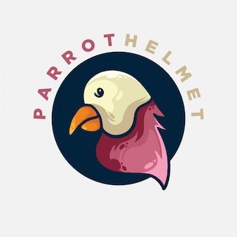 Logotipo plano de papagaio