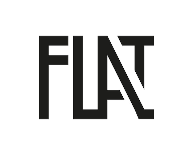 Logotipo plano preto isolado no branco letras geométricas gráficas letras grotescas