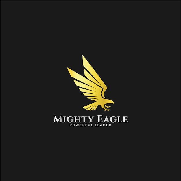 Logotipo poderoso da águia