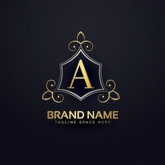 Logotipo prémio para letra a