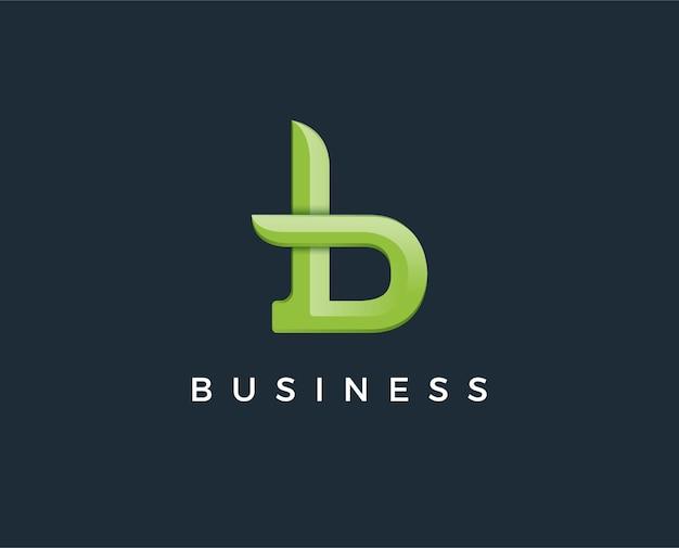 Logotipo premium b em duas variações de cores