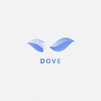 Logotipo premium com pomba