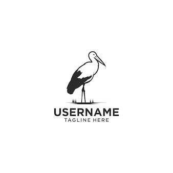 Logotipo premium da cegonha