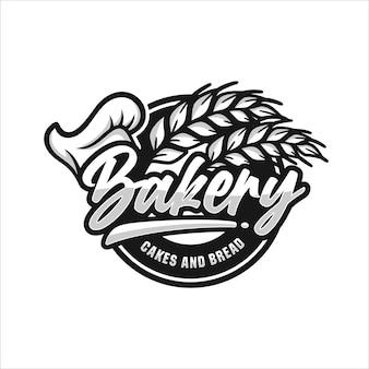 Logotipo premium de bolos e pães de padaria