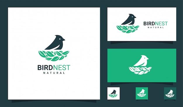 Logotipo premium de ninho de pássaro