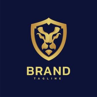 Logotipo premium do lion