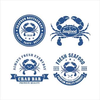Logotipo premium do seafood crab restaurant