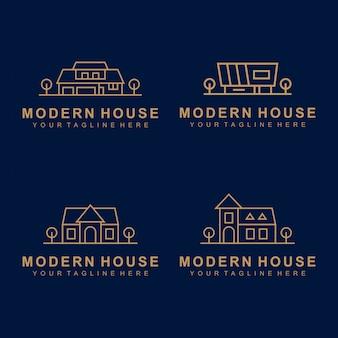 Logotipo premium imobiliário