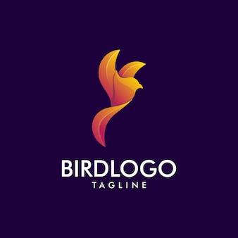 Logotipo premium roxo bird incrível