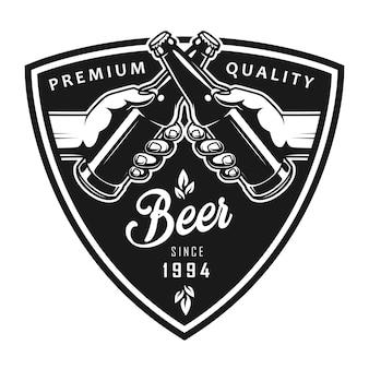 Logotipo preto octoberfest vintage