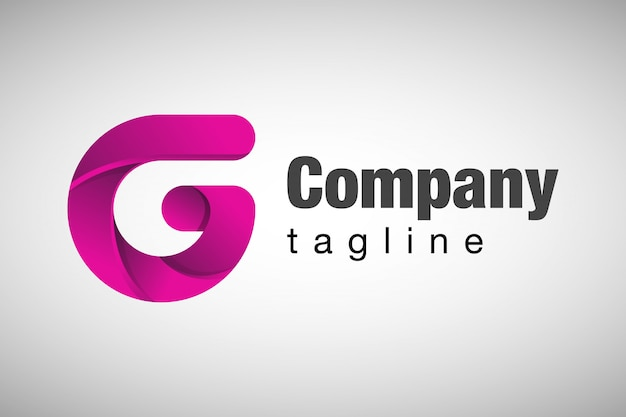 Logotipo profissional da letra g 3d