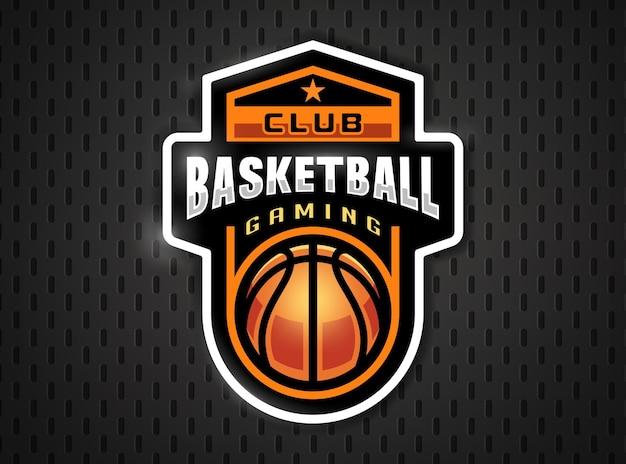 Logotipo profissional do basquete em estilo simples.