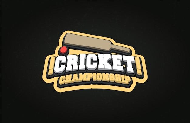 Logotipo profissional moderno para o esporte de críquete