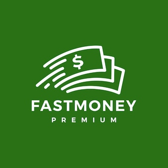 Logotipo rápido do papel dinheiro rápido