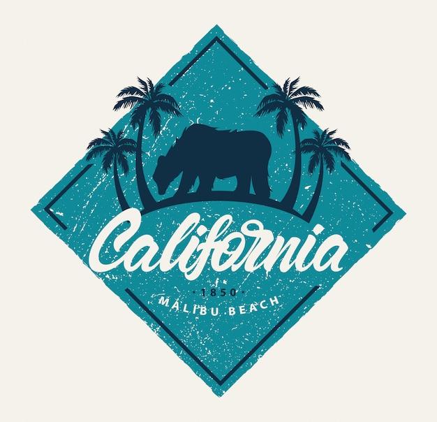 Logotipo retrô da califórnia