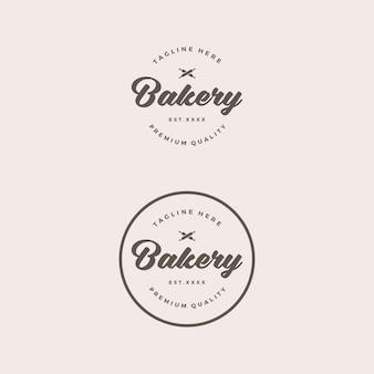 Logotipo retrô de loja de padaria