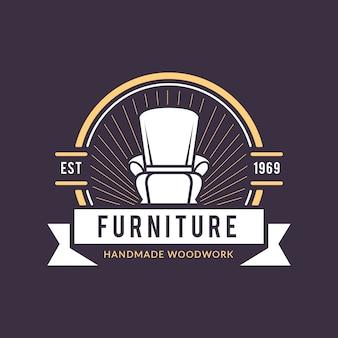 Logotipo retrô para o conceito de móveis