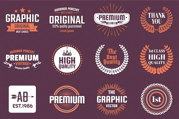 Logotipo retrô vector vintage