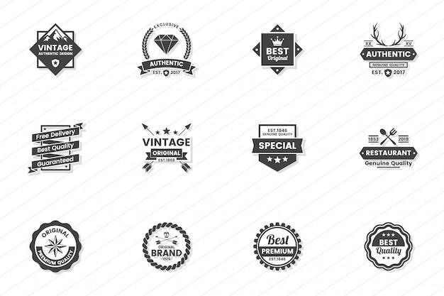Logotipo retrô vector vintage