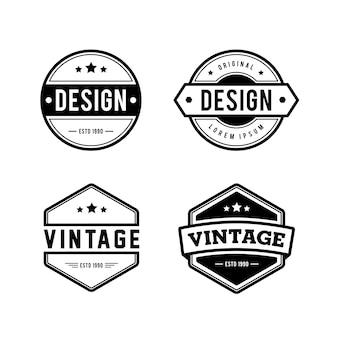 Logotipo retro vintage