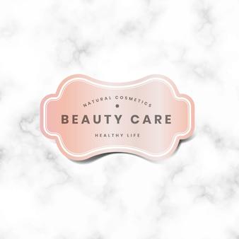 Logotipo rosa pastel mínimo