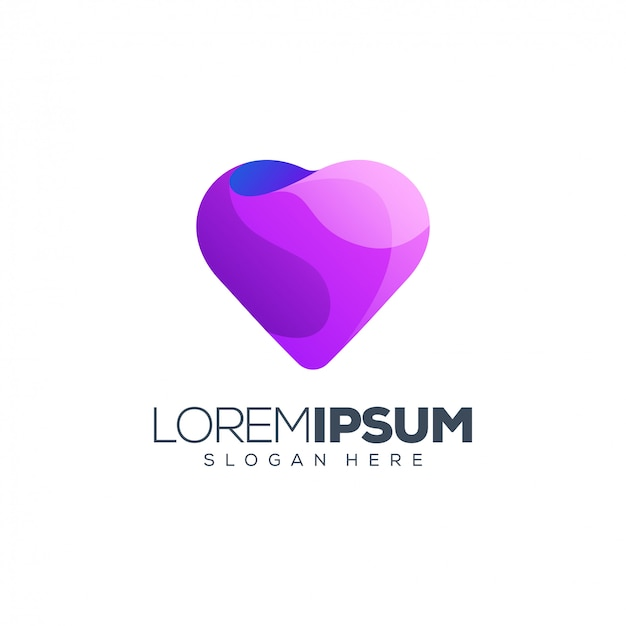 Logotipo roxo do amor