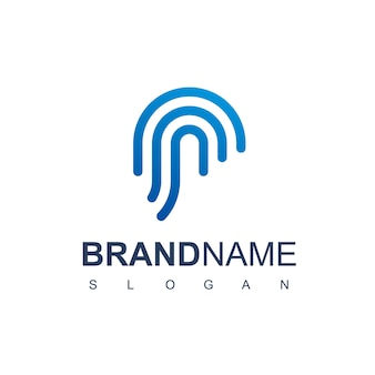 Logotipo seguro com símbolo de impressão digital