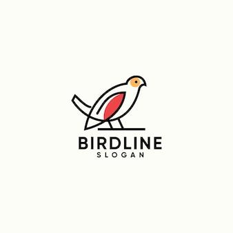 Logotipo simples criativo minimalista de pássaro