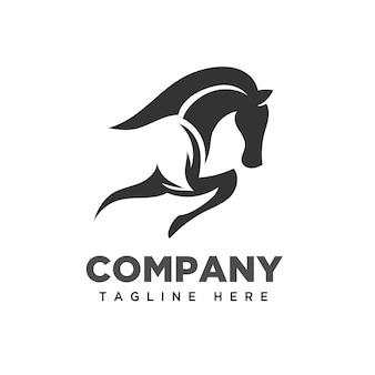 Logotipo simples da arte do cavalo do salto
