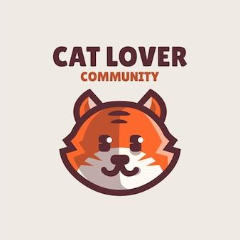 Logotipo simples da comunidade de amantes de gatos