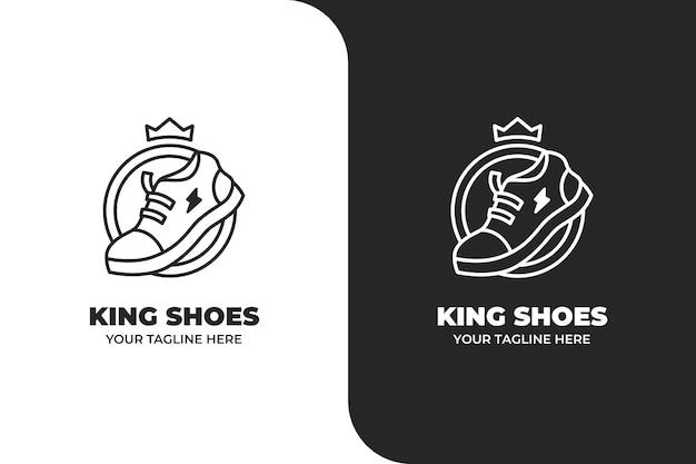 Logotipo simples da shoes king
