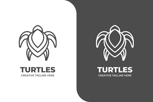 Logotipo simples da tartaruga monoline
