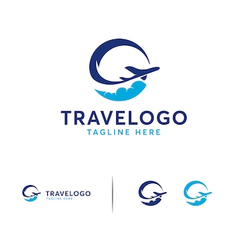 Logotipo simples de viagem
