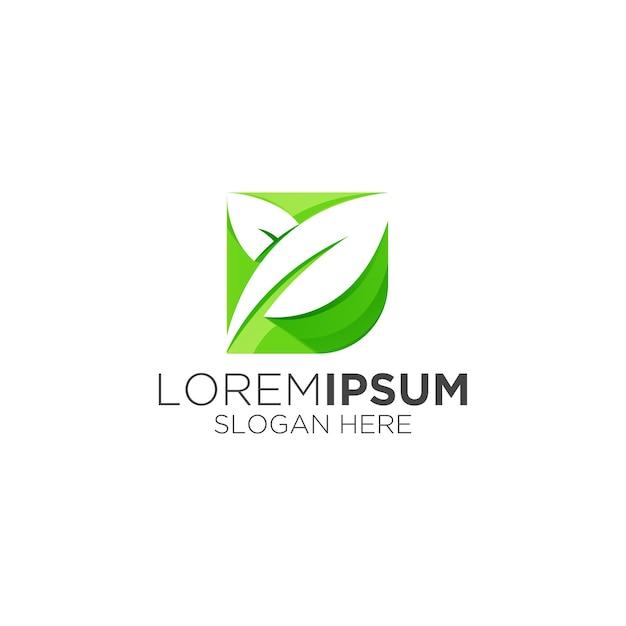 Logotipo simples e moderno da leaf