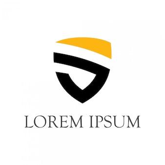 Logotipo simples escudo minimalista