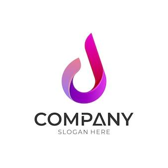Logotipo simples letra d