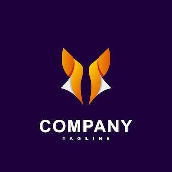 Logotipo simples moderno de raposa