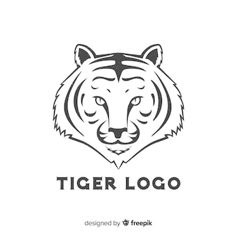Logotipo simples tigre