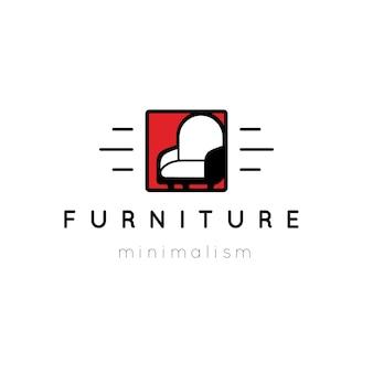 Logotipo simplista de móveis
