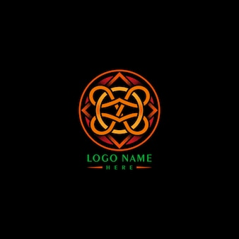 Logotipo sofisticado laranja