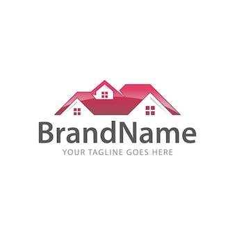Logotipo superior do telhado em casa