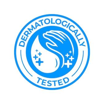 Logotipo testado dermatologicamente