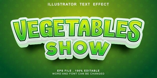Logotipo texto efeito legumes editáveis mostrar