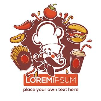 Logotipo tradicional americano fastfood